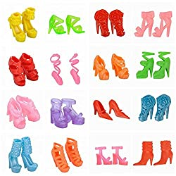 E-TING 10 Pairs/Lot Fashion Mini Shoes for Barbie Doll Doll accessories Random Style