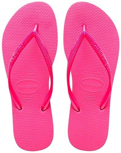 Havaianas Slim Damen Zehentrenner, rosa Pink 0703)),35/36 EU (33/34 BR)