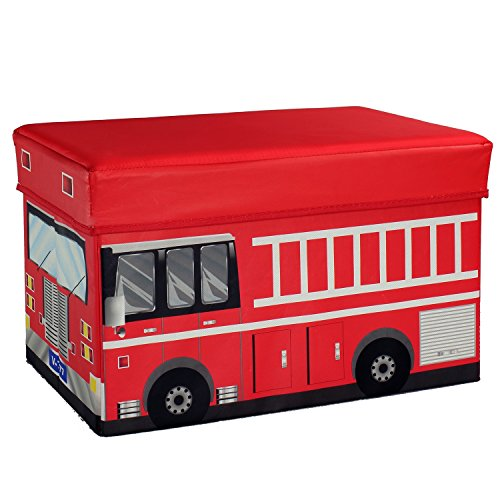 Fire-Truck-Storage-Box-and-Toy-Organizer