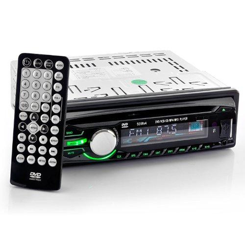 Car Dvd Player - Detachable Panel, Av Output, Dvd, Usb, Sd Card Playback (1Din)