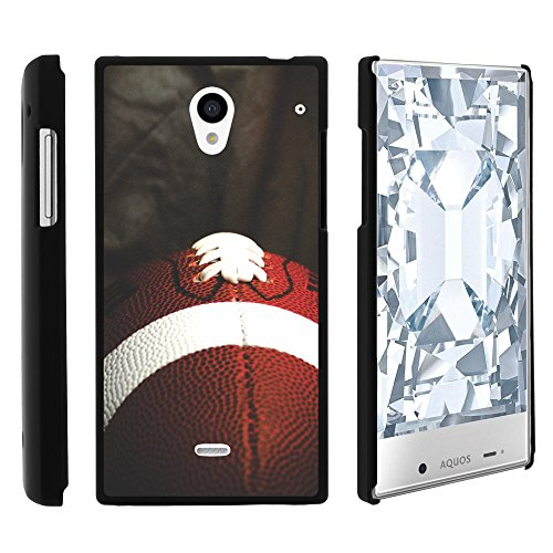 Sharp AQUOS Crystal Phone Case, Slim Hard Shell Snap On Case with Custom Images for Sharp AQUOS Crystal 306 SH (Sprint, Boost Mobile, Virgin Mobile) from MINITURTLE | Includes Clear Screen Protector and Stylus Pen - Football Lace Close Up (Sharp Aquos Crystal International compare prices)
