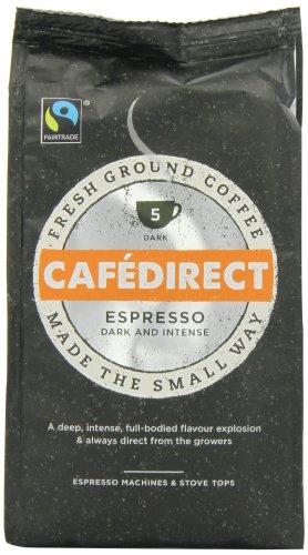 Caf Direct Fairtrade Espresso Roast Ground Coffee 227 g (Pack of 2)