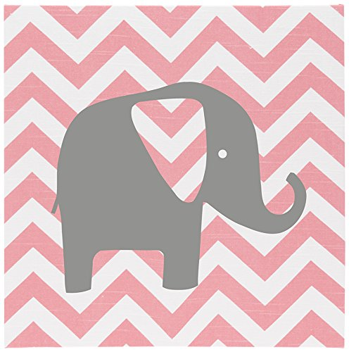Sweet Potato Swizzle Wall Art, Chevron with Elephant