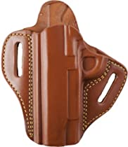 Gould & Goodrich 800-194LH Open 2 Slot Holster, Brown, Left Hand - 1911-type 3-4.25in