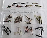 Fly Fishing Nymph Selection 32 fly pack size 12 trout flies including bead heads