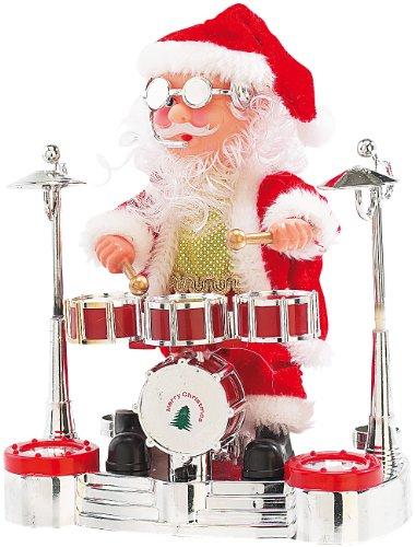 infactory-Singender-Schlagzeuger-Weihnachtsmann-mit-LED-Lightshow