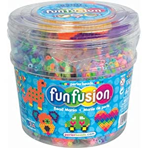 Perler Beads Fuse Bead Activity Bucket: Bead Mania, 8500 Pcs, 1 Pack