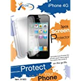 CCM� iPhone 4 4S AT&T, Verizon and Sprint Anti Glare Screen Protector Shield (3 Pack + 3 Bonus Back Films) (81906-A) ~ CCM�