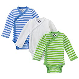 Product Image Gerber 3pk Long Sleeve Onesies - Blue - 0 - 3 Months