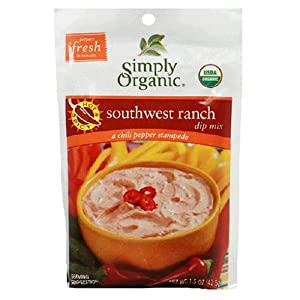 Simply Organic Certified Organic Spicy Southwest Ranch Dip Certified Organic from Simply Organic