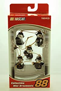 2004 - Action - Trevco - NASCAR - Collectible Mini Ornaments - Set of 5 - UPS Racing - Dale Jarrett #88 - Pit Crew Snowmen - Wal-Mart Exclusive - Limited Edition - Collectible