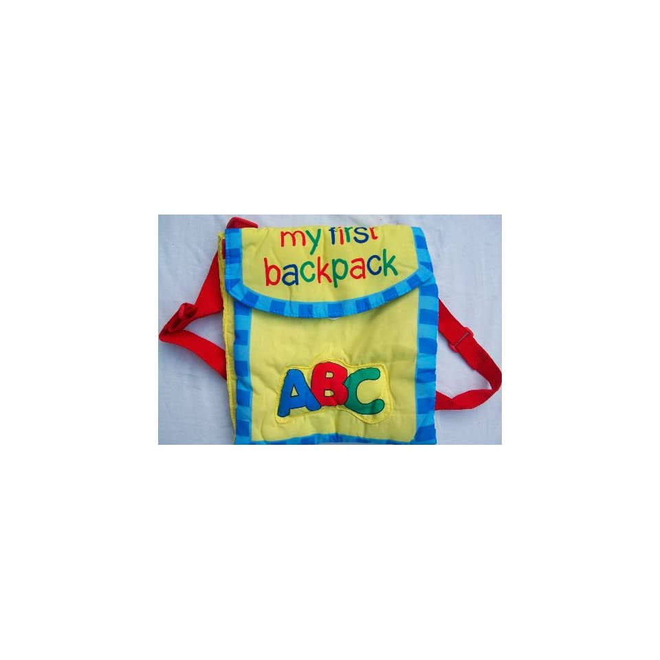 My First Backpack Soft Plush Cloth Rag Book Activity Learning Baby Toy
