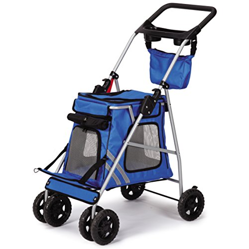Guardian Gear Classic II Stroller for Dogs and Cats, Royal Blue