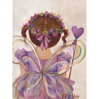 "Oopsy Daisy NB20726 Little Fairy Princess Brunette by Kristina Bass Bailey Canvas Wall Art, 18"" by 24"""