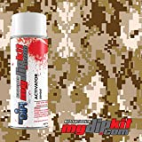 Hydrographic Film Combo- Water Transfer Printing - Hydro Dipping Activator with - Tan/Gray/Brown Digi Camo - MC-821-A