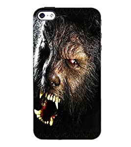 PrintDhaba Beast D-5018 Back Case Cover for APPLE IPHONE 4 (Multi-Coloured)
