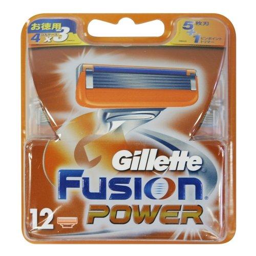 ジレット フュージョン5+1パワー 替刃 12個