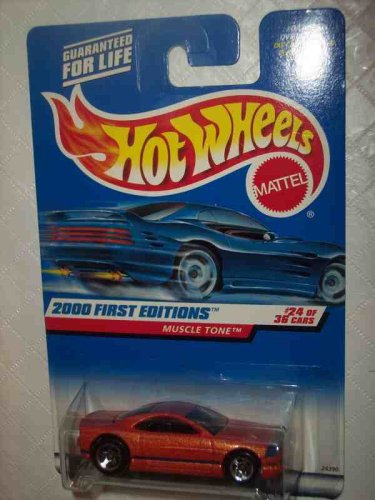 2000 First Editions -#24 Muscle Tone 5-Spoke Black Interior #2000-84 Collectible Collector Car Mattel Hot Wheels 1:64 Scale - 1