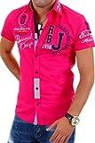 Redbridge Kurzarm Hemd Slim Fit R212-3 [Pink, L]