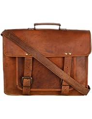 Ramraj Unisex Messenger Leather Bags (RRH808 ,Brown)