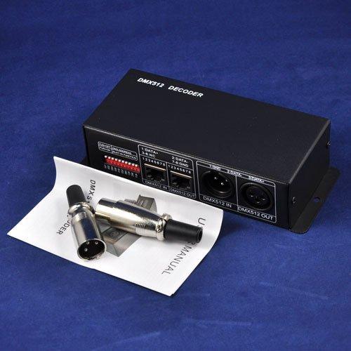 Dhl/Ems Shipping 10Pcs/Lot 5V /60W 12V /144W 24V /288W Dmx 512 Decoder Rgb Led Controller 3 Channels, Each Channel 4Akingneonlux