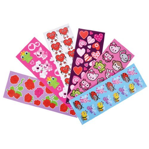 Valentine Sticker Assortment (100 Sheets Per Order)