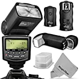 Altura Photo E-TTL Flash Kit for CANON DSLR Rebel T6i - T6s - T5i - T4i - T3i - T2i - T1i - T5 - T3 - XT - XSi - XSi - EOS 70D - 60D - SL1- Includes: Altura Photo E-TTL Auto-Focus Dedicated Speedlite Flash (AP-C1001) + Wireless Flash Trigger with Remote Control Function + Cable-C Cord + Protective Pouch + Hard Flash Diffuser + MagicFiber Microfiber Lens Cleaning Cloth