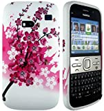 CellBig A- Floral Gel Case Cover Pouch Mask Wallet Pocket Holster For Your Nokia E5