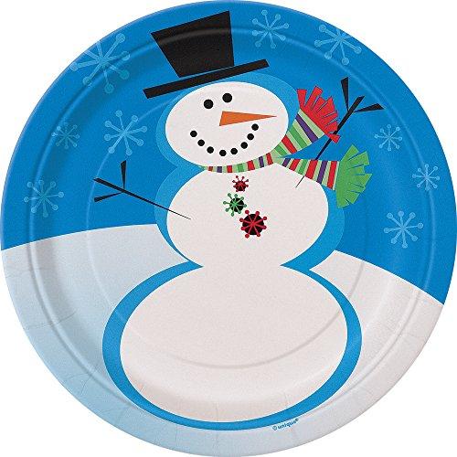 Stellar Snowman Holiday Dessert Plates, 8ct