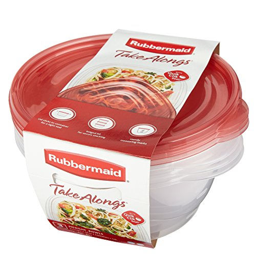 Rubbermaid TakeAlongs 6.2 Cup Medium Bowls, Food Storage Container, 3 Pack (Medium Rubbermaid Containers compare prices)