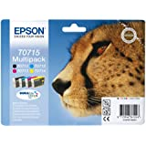 Epson T0715 Tintenpatrone Gepard, Multipack, 4-farbig