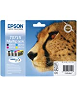 Epson T0715 Cartouche d'encre d'origine DURABrite Ultra Multipack Noir, Cyan, Magenta, Jaune