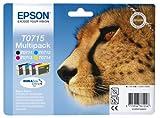 Epson T0715 Tinte Gepard, wisch- und wasserfeste (Multipack,...