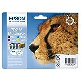 "Epson T0715 Tintenpatrone Gepard, Multipack, 4-farbigvon ""Epson"""