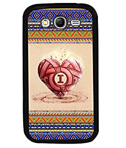 PRINTVISA Pattern Heart Premium Metallic Insert Back Case Cover for Samsung Galaxy Grand Neo - I9060I - D5701