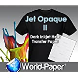 Iron on Heat Transfer Paper/dark Color 30 Sheets 8.5 X 11 Jet-opaque