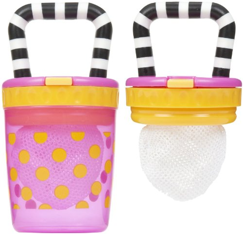 Sassy Teething Feeder - Pink/Orange - 2 Pk front-1015654
