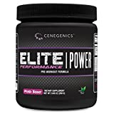 Cenegenics ELITE Performance Power Pre-Workout Powder- Mixed Berry Flavor- 9.88 OZ (280G)- Sweetened with all-natural sugars and contains the energy and muscle growth supporting product Cordyceps Sinensis.
