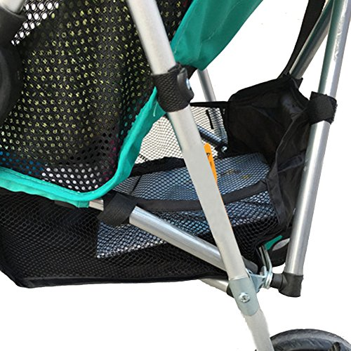 Best Prices! Chinatera Stroller Attachable Bottom Basket Storage Bag Mesh Netting Accessories Carryi...