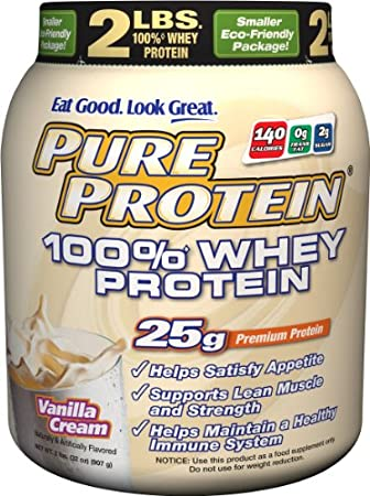 2lbs Pure Protein 100% Whey Protein (Vanilla Cream) $14.17