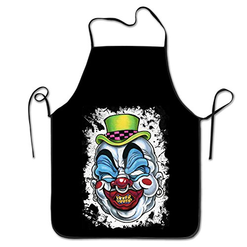 [Adults Killer Clown Aprons Kitchen Apron For Home Use] (Bacon Suit Adult Costumes)