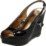 Tommy Hilfiger Women's Moxey Slingback Sandal,Black/Black,8 M US