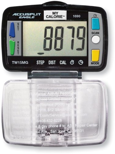 GOJICA ACCUSPLIT Eagle AE1690 Steps, Distance and Calories Pedometer