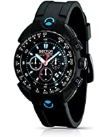 Sector Men's Watch R3271678125 In Collection Shark Master, Chrono 44mm with Black Dial and Strap