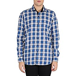 EASIES multicolor checkered slim fit men's shirts_XX-Large