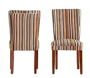 Amazon.com: ModHaus Modern Multi Color Striped Fabric ...