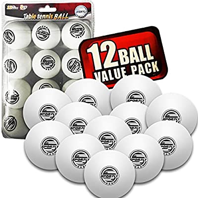 Sportly® Table Tennis Ping Pong Balls, 3-Star 40mm Advanced Training Regulation Size Balls,-12 Pk- White