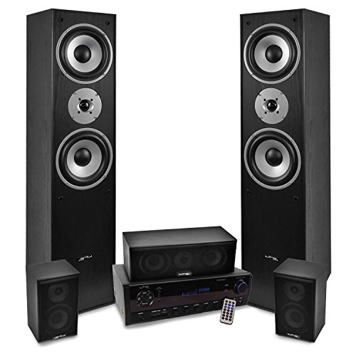 Home-Cinema 5 enceintes 850W E1004BK, Ampli 2x50W + 3x20W ATM6500BT