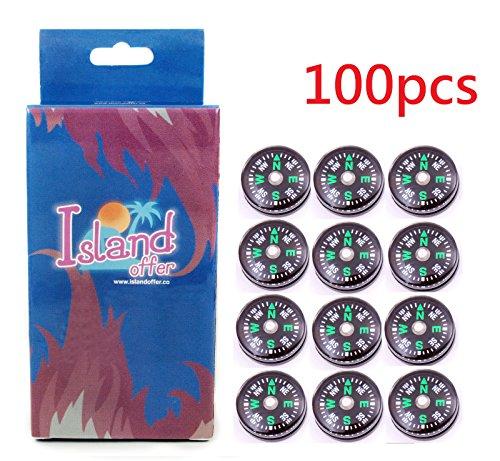 Islandoffer 100X 20Mm Small Mini Compasses For Survival Kit