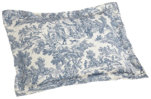 Buy Discount Victoria Park Toile Pillow Sham Standard Size, Blue